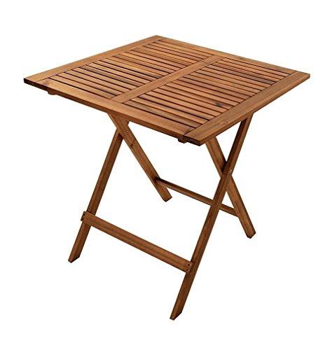 SAM Gartentisch Camelia, 70x70 cm, Balkontisch aus Akazienholz, klappbar