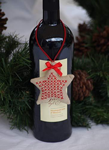 4 x Geschenkanhänger, Flaschenanhänger, Christbaumschmuck, Weihnachten, Advent