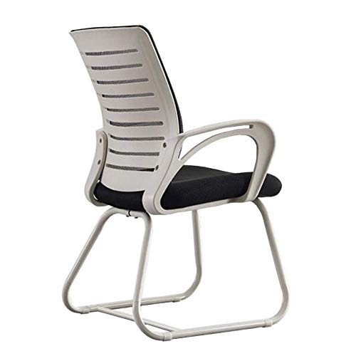 FTFTO Office Life Executive Recline Meeting Chairs Office, Lumbar Support Gaming Conference Breathable Chair Ergonomic Mesh Robust Steel Base Padded Office Chair (Color : White)