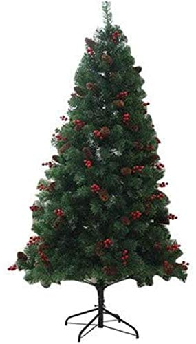 LIUSHI Christmas Decorations Artificial Christmas Tree,5FT Green Xmas Tree,with Pine Cones and Berries Homewith Metal Stand 150cm