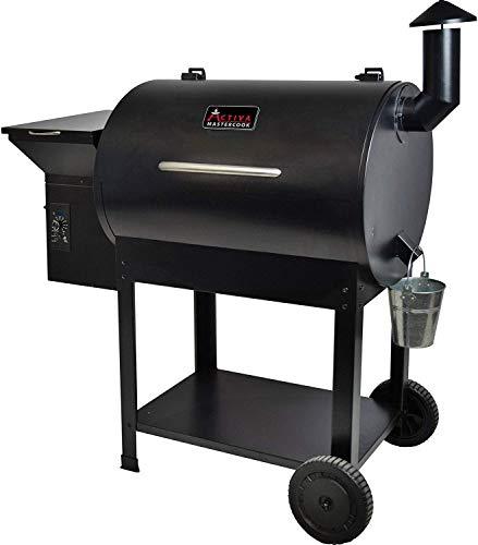 ACTIVA Grill Pelletsmoker XXL Grillwagen Smoker BBQ Barbeque Räuchern Smoken Räucherofen, Pellet-Smoker,