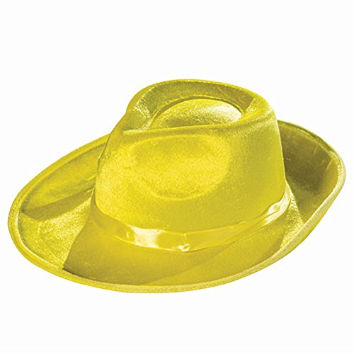 MyPartyShirt Hat Fedora Jaune Deluxe The Mask Dick Tracy Zoot Suit Gangster de 20 Film
