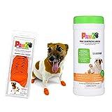 XS Pawz Dog Boots & SaniPaw Dog Paw Wipe Bundle