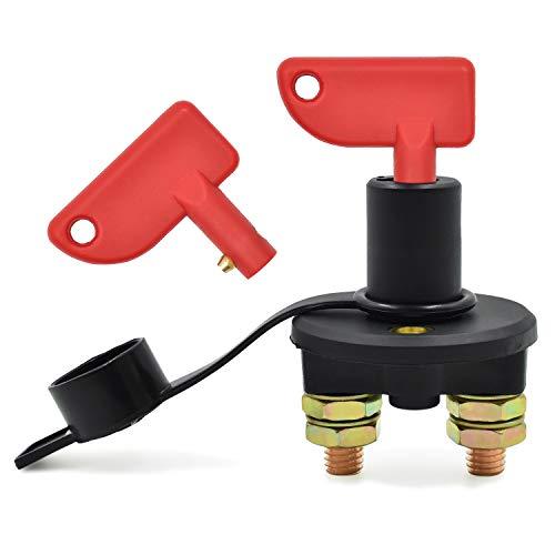NATEE Coupe-Batterie pour Voiture, 12 / 24V, 500A max Isolateur Interrupteur Automobile Urgence Interrupteur pour Voiture, Coupe Circuit Batterie Camion, Bateau, Véhicules