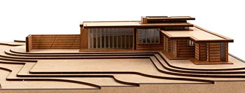 Frank Lloyd Wright Usonian House Scale Model Kit Mid-Century Modern Architecture Wood Building Model...