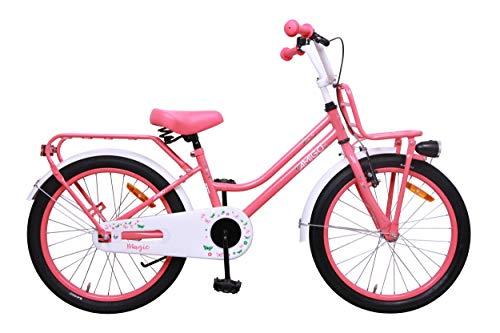 Amigo Magic - Kinderfahrrad für Mädchen - 20 Zoll - mit Handbremse, Rücktritt, Gepäckträger Vorne, fahrradständer und Beleuchtung - ab 5-9 Jahre - Rosa