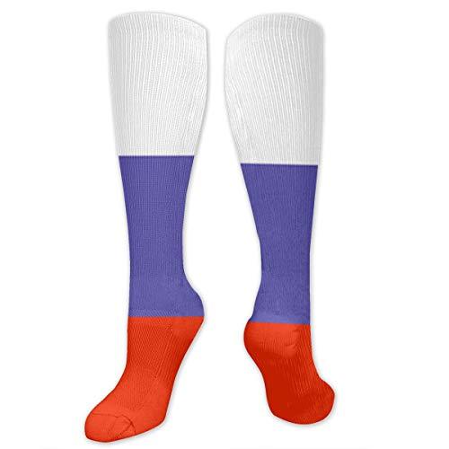 YLGG Russian Flag Socks Casual Fashion Soft Stockings, 50cm