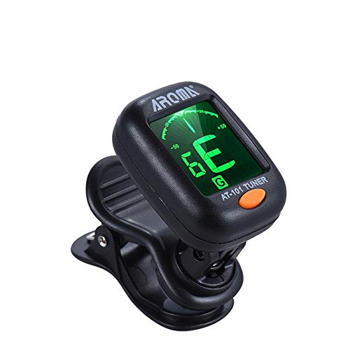 Clip On AT-01A Tuner for Guitar, Bass, Violin, Ukelele, Mandolin and Banjo Chromatic Tuner for Stringed Musical Instruments