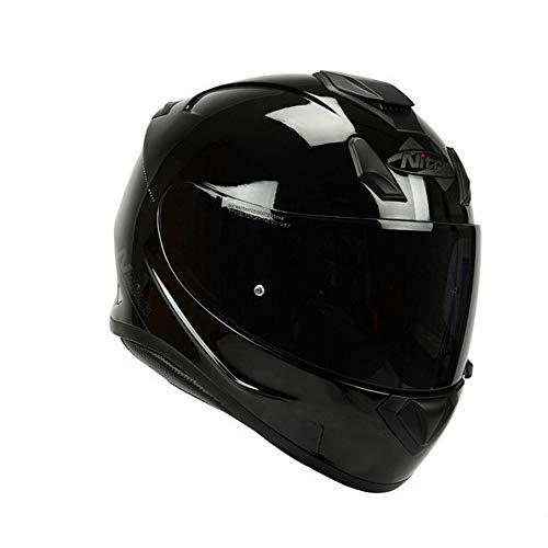Nitro N3100 UNO Full Face Motorcycle Helmet - Blackout Gloss BlackXXL