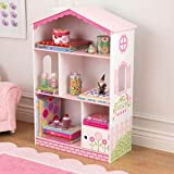 Dollhouse Bookcase 38' Wooden Cottage Kids Indoor Furniture Storage Books Girls Fun Toys