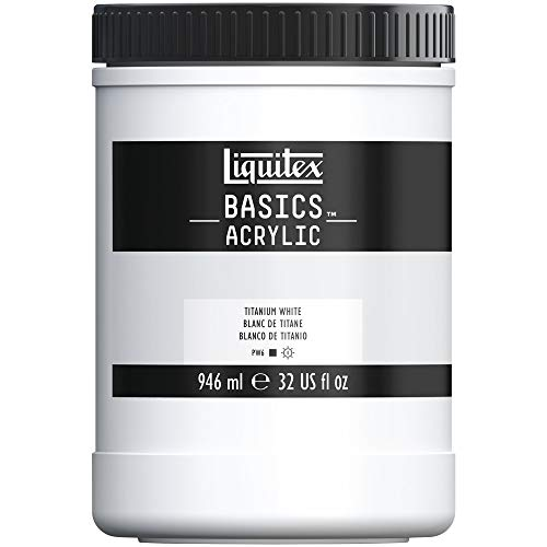 Liquitex BASICS Acrylic Paint, 32-oz jar, Titanium White