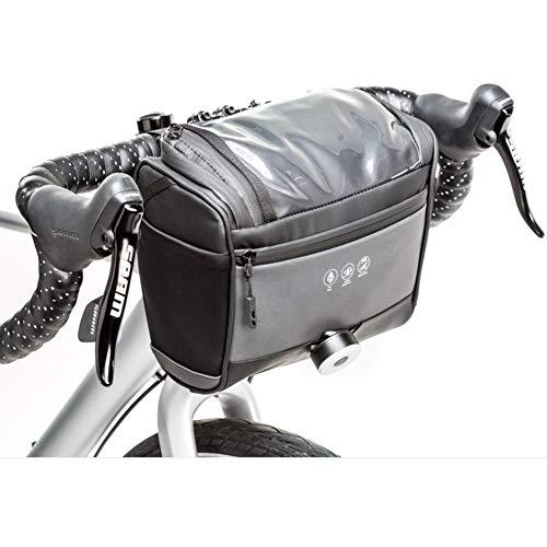 GHH Cadre de Tube Avant vélo Sac Sac de Rangement de Grande capacité réfléchissante PU imperméable à vélo de Haute qualité Sac en Nylon 3.5L