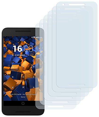 mumbi Schutzfolie kompatibel mit LG Google Nexus 5X Folie klar, Bildschirmschutzfolie (6x)