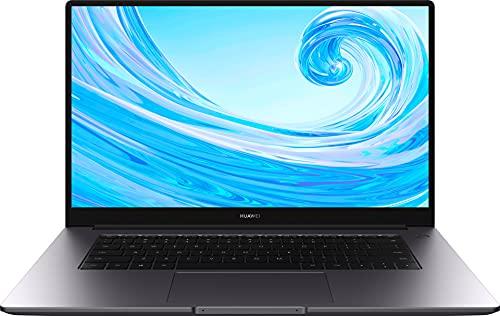 HUAWEI MateBook D 15 Zoll Laptop, FullView 1080p FullHD Ultrabook, Intel Core i3-10110U, 256GB NVMe PCIe SSD+8GB RAM, QWERTZ-Layout, Fingerabdrucksensor, versteckbare Kamera, Windows 10 Home, Grau