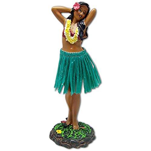 KC Hawaii Leilani Dashboard Hula Doll Flower Placing Pose 7 inches