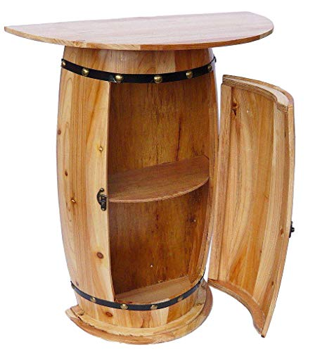 DanDiBo Aparador Mesa Barril de vino 0373 Armario Vino Estante Barril Madera 73 cm Mesa auxiliar Consola