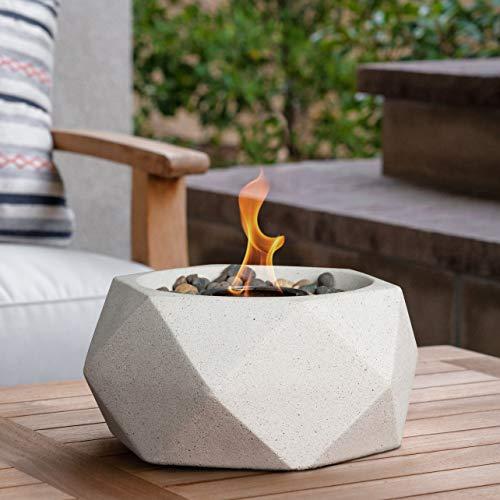 Terra Flame OD-TT-GEO-WHT-03 Table Top Fire Bowl, White