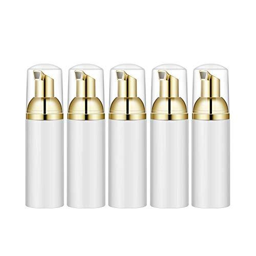 CUHAWUDBA 5StüCke 50 ML Kunststoff Sch?Umende Flasche Seifen Mousse FlüSsigkeits Spender, Schaum Shampoo Lotion AbfüLlung Schaum Flaschen