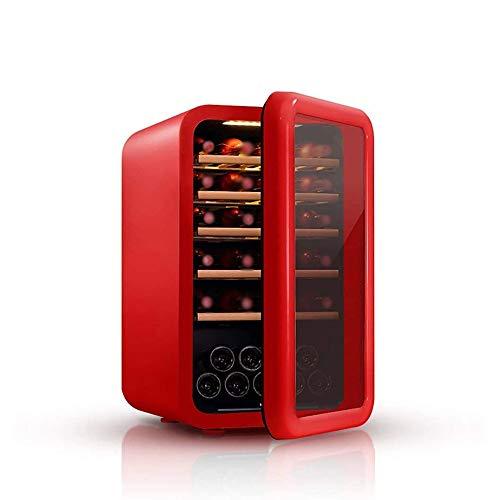 QIN Vino Frigorífico - Pantalla táctil del refrigerador de vino, 5-18 grados, Vino Blanco Rojo Nevera Chiller encimera enfriador de...