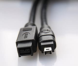 Bizlander Firewire 高速 プレミアム DV - Firewire ケーブル 800 1394B 800-400 IEEE 9ピンオス - 4ピンオスケーブル 6フィート Mac Pro MacBook Pro Mac Mini...