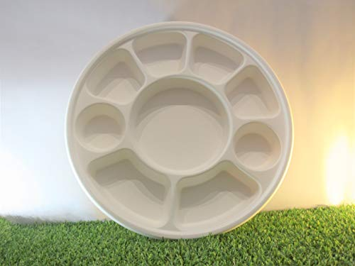Rond 9 Compartiment biodégradable Assiettes Lot de 25