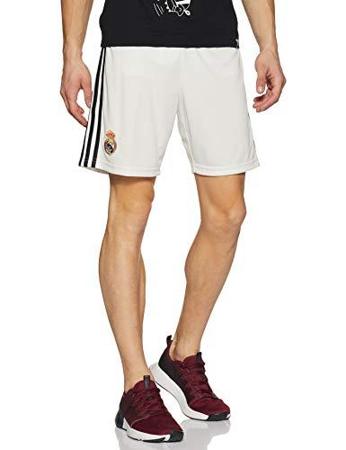 adidas 18/19 Real Madrid Home Short, Pantaloncini Sportivi Uomo, Core White/Nero, L