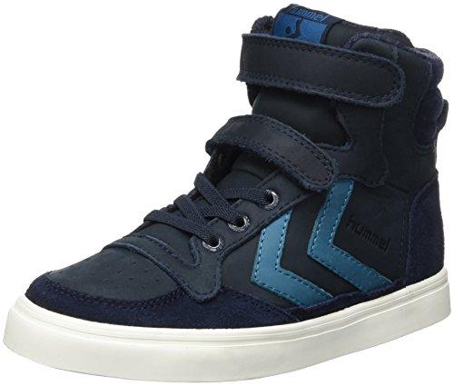hummel Unisex-Kinder Stadil Oiled Sneaker JR High-Top, Blau (Total Eclipse), 32 EU