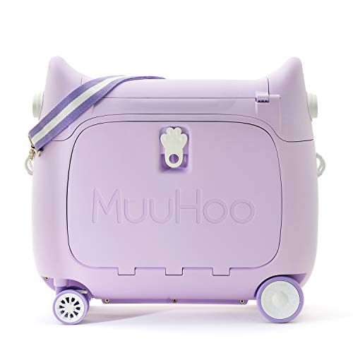 ANIMOR Kids Travel Partner Ride-On Suitcase and Carry-On Luggage,Classic Rolling Luggage (Purple)