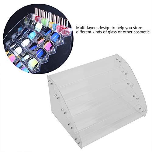 Zonnebril Displaystandaard, Meerlaags Helder Acryl Bordsteun Rackhouder Plank Organisator Doos voor brilmontuur Cosmetica (vijf)