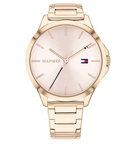 Tommy Hilfiger Damen Analog Quarz Uhr mit Edelstahl Armband 1782087