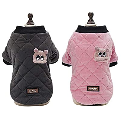 Handfly Dog Coat Puppy Winter Warm Coat Dog Jacket Pet Coat Sweater Hoodie Clothing Apparel for Small Medium Dogs