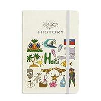 ハイチ島風景動物の国旗 歴史ノートクラシックジャーナル日記A 5