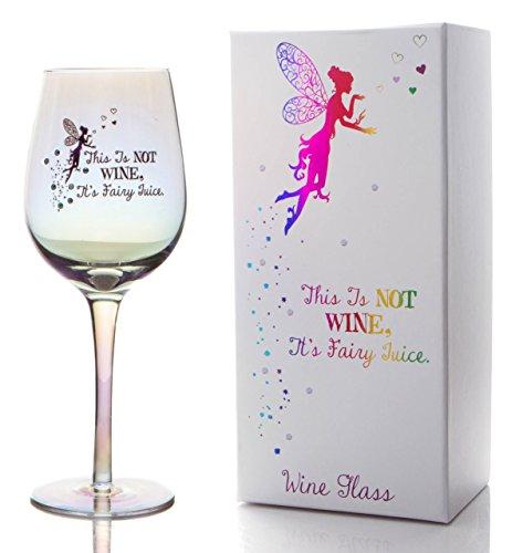 Boxer Gifts This is Not, Its Juice' Lustre Effect Sparkly Wine Glass with Diamante   Gift for Fairy Loving Mom, Sister, Friend Copa de Vino con Efecto, diseño de Hadas, tamaño único