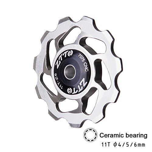 ETbotu Outdoor Gears, Persoonlijke apparatuur - Mountainbike Transmissie Achterwijzerplaat Wiel High-end Keramische Palin Gids Wiel 11T Tand Aluminium Spanning Wiel