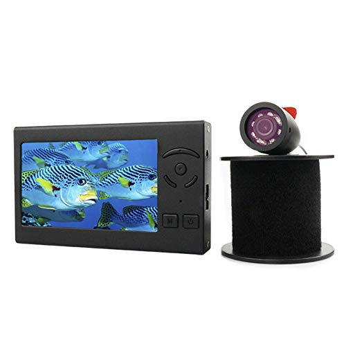 Cámara de pesca submarina, buscador de profundidad de peces con pantalla LCD de 4.3 pulgadas con parasol y pantalla de batería, buscador de peces visible para pesca en el lago, barco, kayak, río
