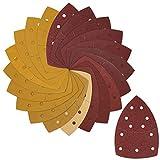 Telgoner Dreieckschleifer Schleifpapier, 80 Stück Schleifblätter mit Klettverschluss für Bosch...