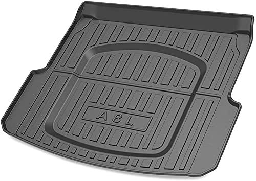 Bagagemattor för Audi A8L 2011-2017 (inget kylskåp), bil vattentät slitstark golvmatta matta skyddsmattor