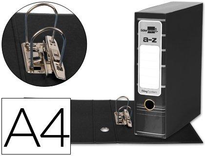 5 ARCHIVADORES DE PALANCA LIDERPAPEL A4 FILING SYSTEM NEGRO CON CAJA