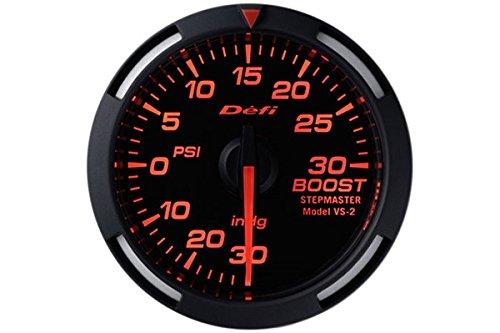 Defi DF06502 Racer Boost Gauge, Red, 52mm