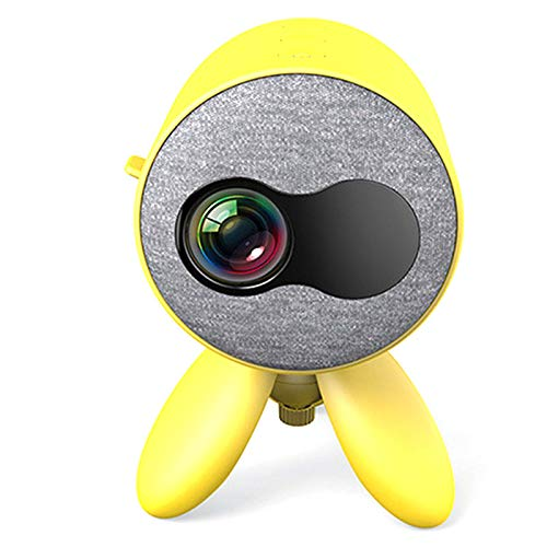 Gaetooely YG221 LED Home Proiettore Supporto 1080P HD USB AV TF Videoproiettore Portatile Media Player Regalo per Bambini.EU.Plug