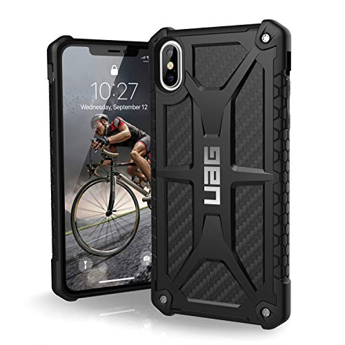 URBAN ARMOR GEAR UAG iPhone Xs Max [6.5-inch Screen] Monarch Feather-Light Rugged [Carbon Fiber] Military Drop Tested iPhone Case