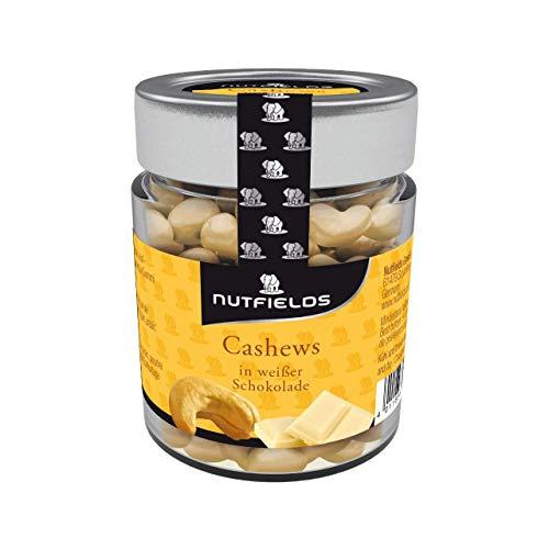 Nutfields Cashewkerne in Weißer Schokolade   Gourmet-Snack   Fairtrade   150 g