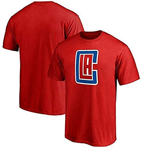 CZLSD Herren American US Style Basketball Trikots NBA Clippers Team Logo Fans kurzen Ärmeln Männer und Frauen Sommer Sport T-Shirt Westen Tops T Shirts Jersey (Color : Red, Size : L)