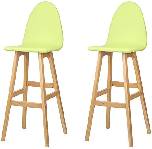 HAO KEAI 2 X Sgabelli da Bar Sgabello da barre rotante a 360 ° Steckrest Set da cucina in legno Set di 2 PCS Home Bar Sgabello ad alto sgabello, colazione cucina cucina sedie per isole da cucina e bar