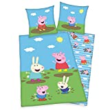 Peppa Pig Wutz George Wende Bettwäsche-Set 135/200 + 80/80 cm
