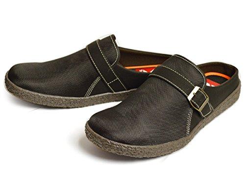 [トラッククラブ] サボサンダル メンズ スリッポン クロッグ サンダル スニーカー シューズ アウトドア 通気性 軽量 靴 S(24.5-25cm相当) Black ブラック 黒色
