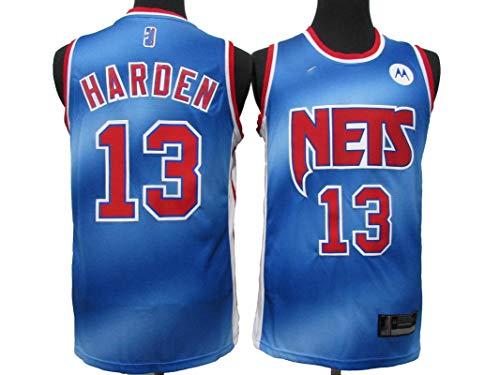 MJAD Camiseta de Hombre Adulto Brooklyn No. 13 James Harden Camiseta, Camiseta de Uniforme de Baloncesto Deportivo Juvenil M