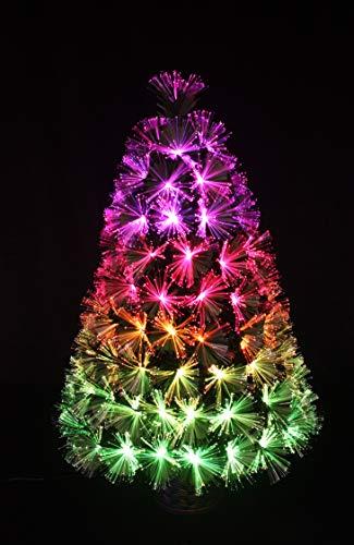 HOLIDAY STUFF 3 Foot Tabletop RGB Color Changing Fiber Optic Christmas Tree