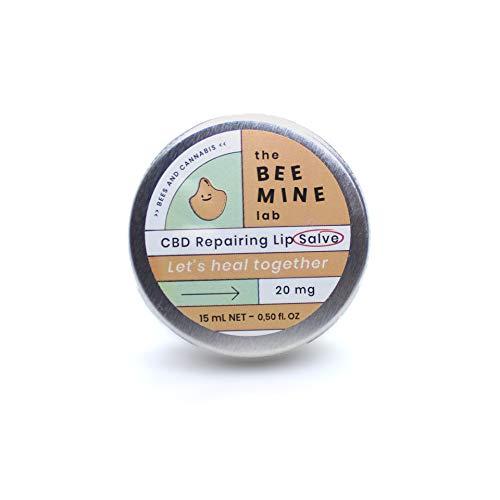The Beemine Lab Bálsamo Labial, Hidrata Repara y Protege, con Aceite de Cáñamo y Cera de Abejas, 99.85% Ingredientes Naturales, 15 ml