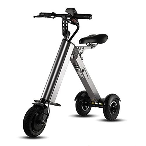 ABCD Bicicleta eléctrica Plegable, Scooter de batería de Litio portátil de 250 W 24V, Coche de batería de conducción pequeña de 8 Pulgadas, Doble absorción de Golpes, Rango de Crucero de 30km